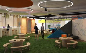 Decathlon Office Interior Design by Hidecor