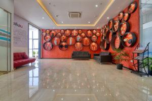 Reception Area displaying Ashirvad's product portfolio