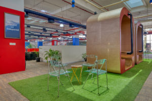 Ashirwad Aliaxis Office Interior by Hidecor - Collaborative Space