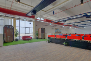 Ashirwad Aliaxis Office Interior by Hidecor Phone Booth Collab Space