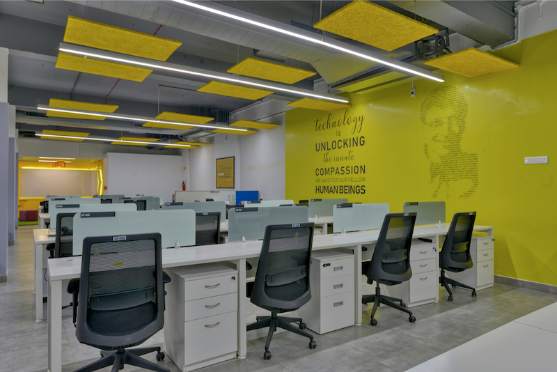 Titan Bengaluru Office designed by Hidecor - Office Floor - Bill Gates Wall