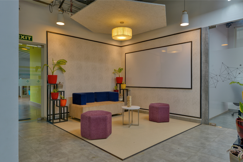 Titan Bengaluru Office designed by Hidecor - Collaborative Corner - Decorated